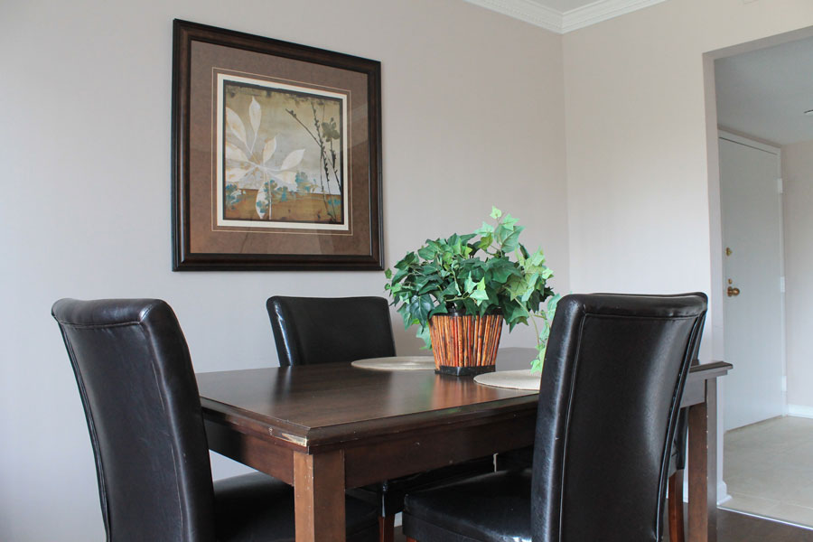 Crescent Centre Dining Room Table